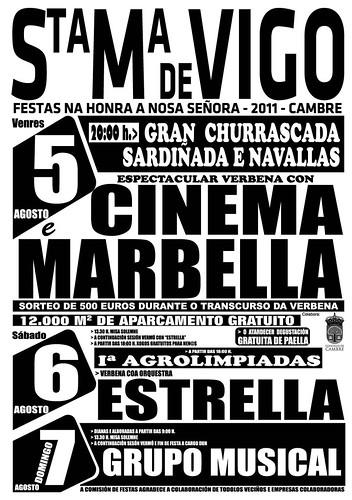 Cambre 2011 - Festas de Santa María de Vigo - cartel