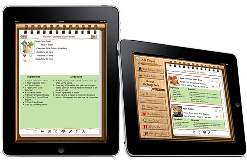 "App review "" My Recipe Book For the iPad """