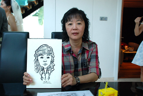 caricature live sketching for wedding solemnisation - 6