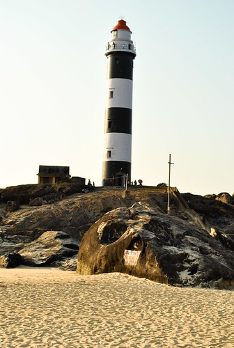 Lighthouse at the Kaup beach