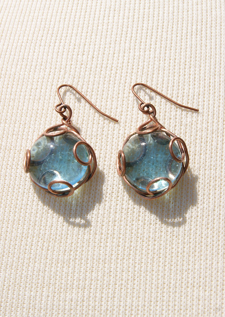 Boho Beach Glass- Earrings