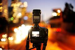 Sony A850 vs Canon 7D (dj murdok photos) Tags: life city longexposure sunset urban cars buildings losangeles lowlight bokeh dusk sony lighttrails fullframe alpha lightstreaks a850