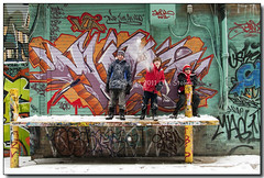 On Stage (Lisa-S) Tags: portrait snow jason toronto ontario canada kids graffiti lisas auburn redhead alun trystan graffitialley 50d 5143 copyright2011lisastokes gicno