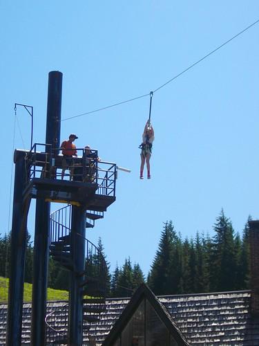 Madeline ziplining