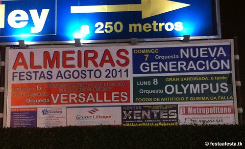 Culleredo 2011 - Festas de agosto en Almeiras - cartel