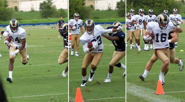WR vs DBs in end zone drills