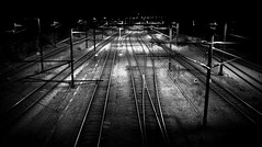 Tracks (Kasper Bennedsen) Tags: night train photography tracks nat trainstation rails fredericia tog banegrd togskinner