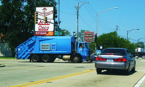 "A ""New"" City of Chicago Department of Streets and Sanitation Autocar garbage truck. Chicago Illinois USA. Early August 2011. by Eddie from Chicago"
