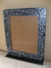 Porta-retrato grande (By Aline Design) Tags: retrato preto porta prata craquelê 20x25