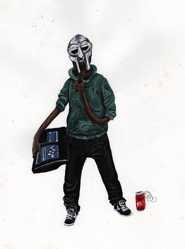 MF Doom by Dog Steaks and Pigeon Cakes