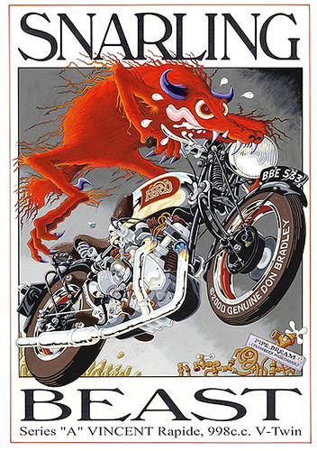Vincent Snarling Beast Series A by bullittmcqueen