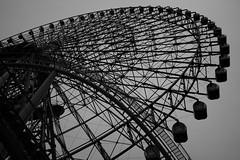 大観覧車 / A Big Wheel (Junnn) Tags: blackandwhite bw wheel japan big photowalk osanpo yokohama minatomirai 35mmf14 cosmoclock21 canonef35mmf14lusm canoneos5dmarkii silverefexpro2