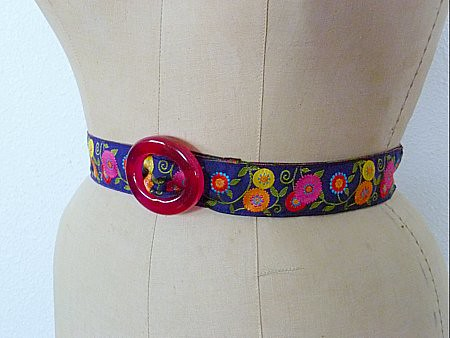 Floral belt--side view