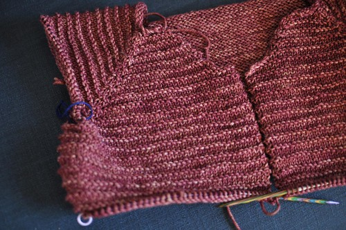 rhinebeck sweater progress
