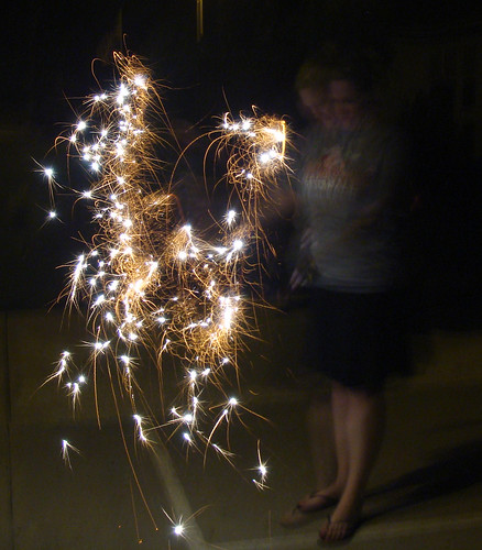 Sarah pop-sparklers