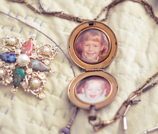 vintage photo locket