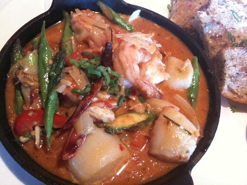 Panang Curry with Scallops, Crab, and Shrimp
