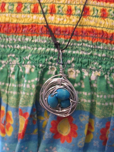 Peelu's bird's nest necklace for Grandma