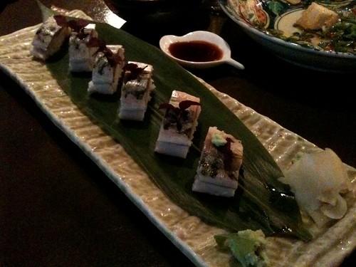 Lengué: Sushi de maquereau