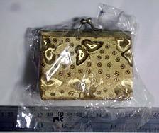 dompet hollow emas kecil