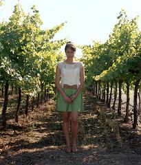 vineyard (pelado.) Tags: california vanessa woman 120 film vineyard wine country grapes napa 6x7 grape mamiyarb67 portra400