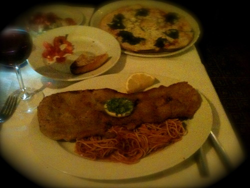 meal at zia teresa - hans st, knightsbridge