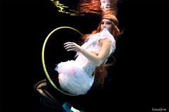 the circus performer (leslie.june) Tags: new pink blue stockings june hoop hair photography shoes artist underwater dress circus hula surreal floating levitation equipment blond wig leslie bizarre underwaterphotography ikelite underwaterportraiture