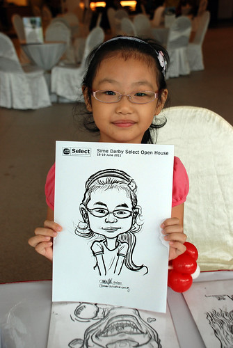 Caricature live sketching for Sime Darby Select Open House Day 2 - 7