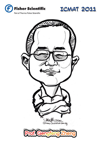 Caricature for Fisher Scientific - Prof. Gengfeng Zheng