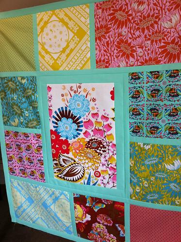 Tiles baby quilt top