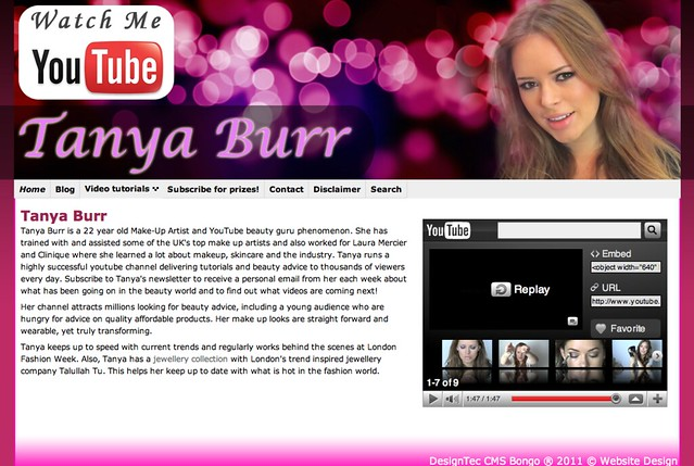 Tanya Burr blog