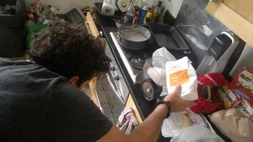 Sneaky flour pouring