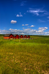 Five red barns: Keepers of the beehives (JoLoLog) Tags: canada countryside alberta hdr lorien canonxsi fiveredbarns countryroad773southofcalgary