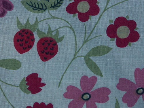 Liberty strawberry fabric