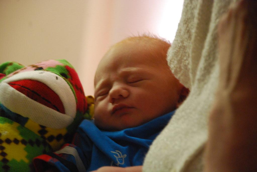 Baby boy Harvey, 15 hours old DSC 0434