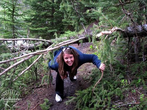 Karen taking on the Trail