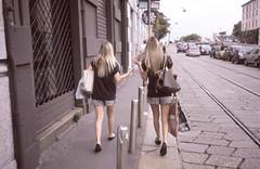 (chiara balza) Tags: girls two film 35mm real twins fake dia idiots yashicat4