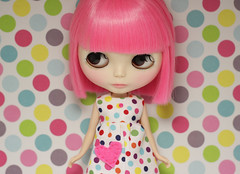 (prettyinthekitchen) Tags: doll polka dot spotty guava blythe simply