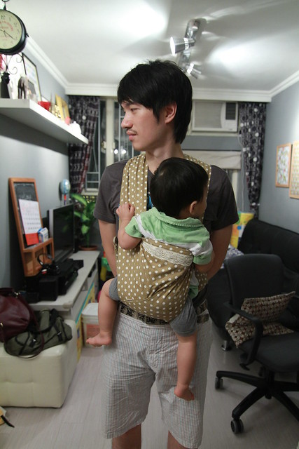 Papa, baby, carrier