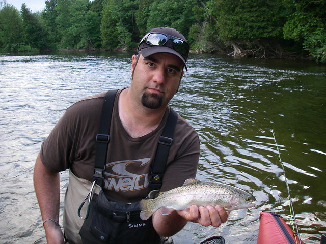 Bill M with a resident rainbow.