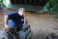 DSC_1010 (tintyper) Tags: homeless streetportrait hobo panhandling underbridge homelessman pleasehelp homeguard ftra freighttrainridersofamerica freighttrainrider