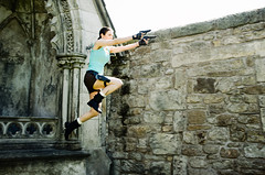 LaurenCroft-7 (Kirsty Brown Memento Studios) Tags: game lauren st female video model ruins nadia andrews williams cathedral cosplay action dundee tomb adventure lara croft characters iconic kirsty legg raider ramage
