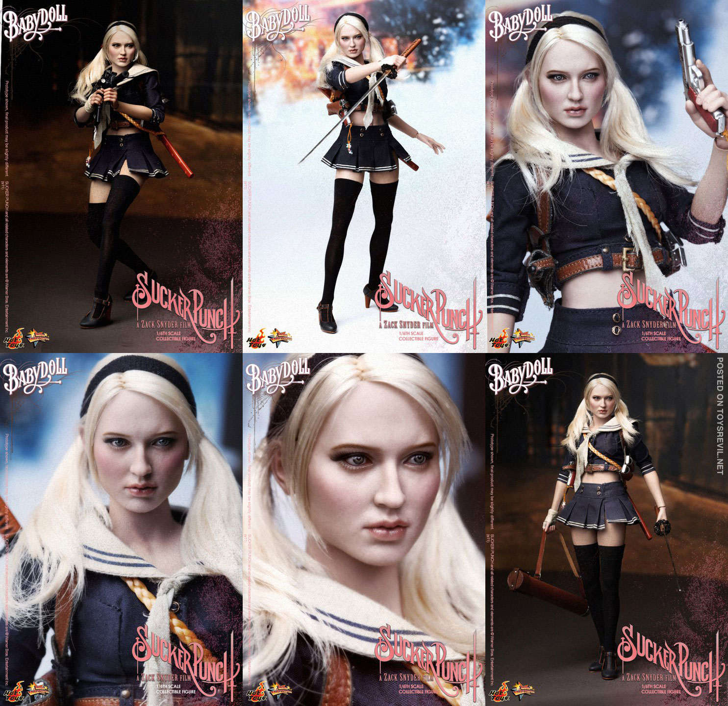 baby doll & amber from sucker punch in 1/6 from hot toys