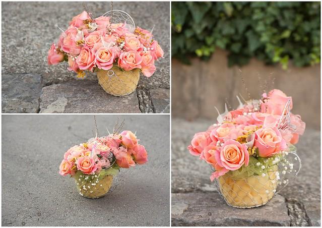 roses arrangement ( aranjament cu trandafiri )