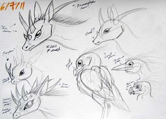 6.7.11 - Creature Sketches