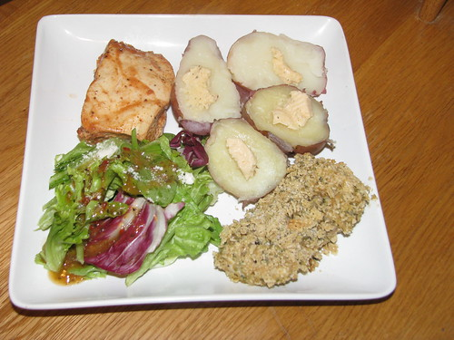 Chicken Two Ways (Low Cal Barbecue and Gluten Free Breading)