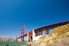 Golden Gate Bridge (Angad Singh | Zone 5 Aviation) Tags: ocean sf sanfrancisco california road county ca street bridge red sea sky cliff tower grass architecture canon drive golden bay san francisco surf traffic pacific suspension sfo m