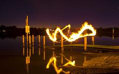 29/52 The Fire Dance (Organic Brett) Tags: sunrise river swan pentax perth westernaustralia swanriver firedance k100d