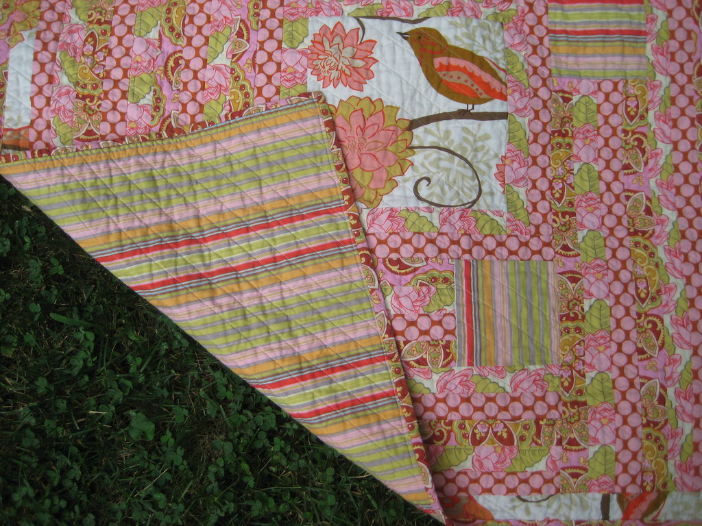 Miss V's Strip Quilt Striped Backing