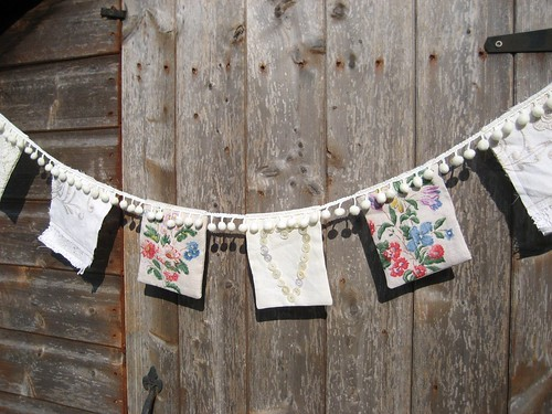 Vintage Textile Bunting by RubyRed06
